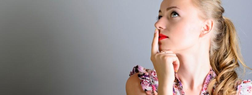 Girl full of doubts and hesitation. Girl is thinking.; Shutterstock ID 301824659; PO: Brandon for health